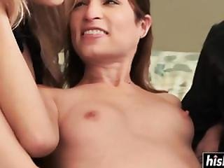 Threesome Fucking With Hot Lesbian Chicks