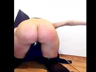 Self Ass Spaking In Garter Belt And Stockings