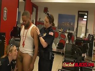 Busted Black Men Ends Up Banging Two Smoking Hot Female Cops