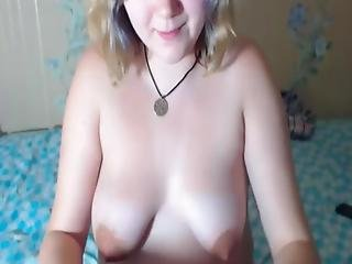 Chubby Teen Showing Off Her Long Breasts