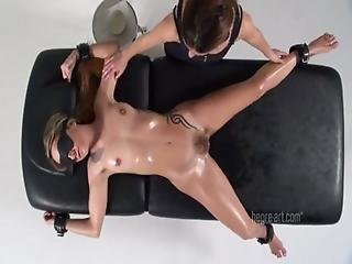 Anal, Art, Cuffed, Fingering, Forced, Handcuffed, Lesbian, Massage, Nude, Orgasm, Pussy, Table Fuck