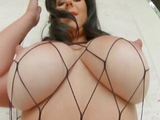 Primecups Babe In Fishnet Teases With Her Boobs