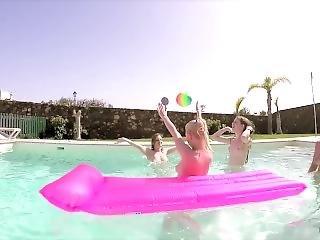 Naked Pool Games!