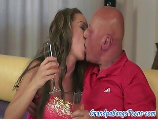 Lovely Teen Fucked By Grandpa After Sixtynine