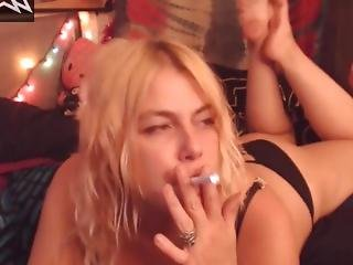 Kitty Chain Smoking And Coughing