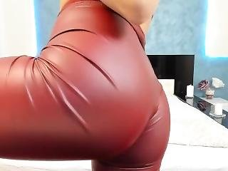 Asian_delight_ Leather Pants Ass Tease