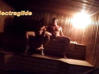 Hot Fun In Sauna Public
