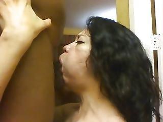 Pipe, Sperme, éjaculation, Deepthroat, Bite, Affamée, Interracial, Milf, Suce, Avale