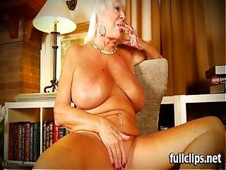 Blonde, Granny, Heels, House, Housewife, Masturbation, Pierced, Pussy, Shaved, Solo, Wife