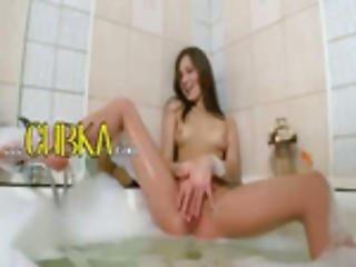 bain, castor, cul, clito, lèche, chatte ouverte, chatte, étirement de chatte, frotter, mouillée