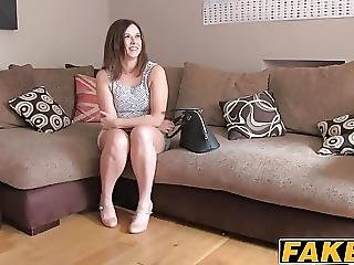 Chubby Slut Gets Her Face Cummed On After Riding A Hard Cock