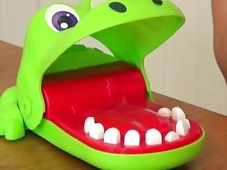Asian Teen, Harriet Sugarcookie Plays Crocodile Dentist With Spanish Friend