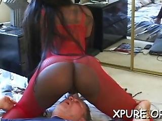 Busty Beauties Dominating A Guy By Sitting On His Face
