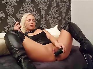 amateur, gross titte, blondine, deutsch, rauchen