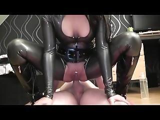 Hot Latex Anal Creampie