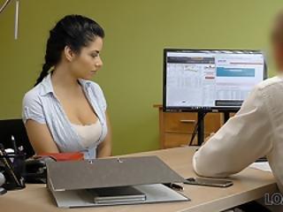 Loan4k. Modest Brunette Has Dirty Sex For Cash In The Loan Agency