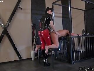 Goddess Sexy Femdom Strapon Latex Boots