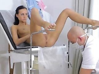 Thin Teen Is Examined By Doctor
