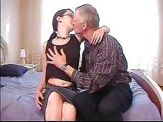 Young Brunette In Motel With Chemistry Teacher