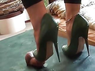 High Heel Trample And Cum