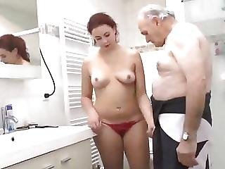 Bath, Blowjob, French, Grandpa, Hot Teen, Redhead, Shower, Teen, Young