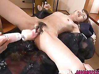Kanon Getes Extra Inches For Her Furry Asian Holes