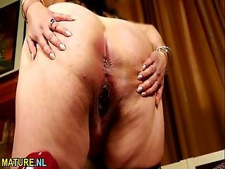 Big Breasted American Housewife Fingering Herself