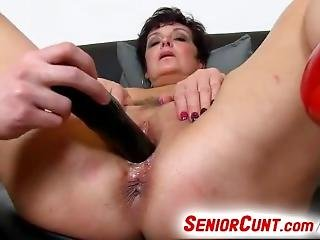 Busty Lady Greta Dirty Pussy Play With A Boy