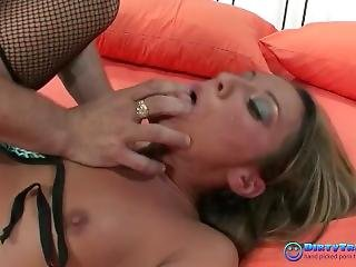 Cute Small Titted Babe Gets Facefucked