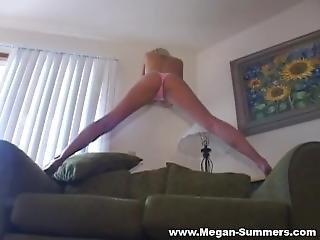 Megan Summers Pink Pantie Posing