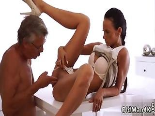 Old Gray Hairy Pussy Swallowed So Deep%2C So She Almost Can%27t Breathe%2C But