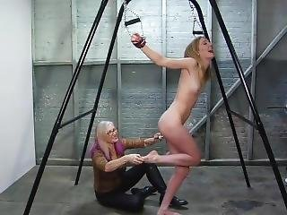Restrained Helpless For The Tickling