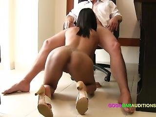 New Skinny Thai Girl Auditions For Job With Nasty Boss