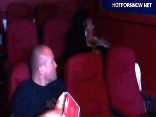 Great Anal Threesome In Theatre With 2 Girls