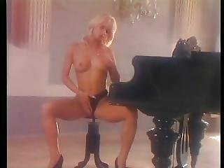 Hot Blonde Judith Dp Threesome On Piano