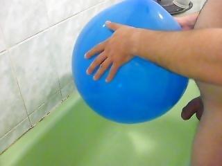 ballon, badeværelse, tisse
