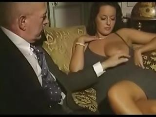 Italian Vintage Scene 2 Share His Girlfriend And Friend With Old Men
