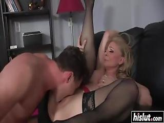 Threesome Banging With Two Hot Brunette Sluts