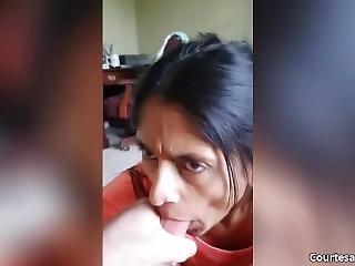 Older Indian Wife Sucking Dick