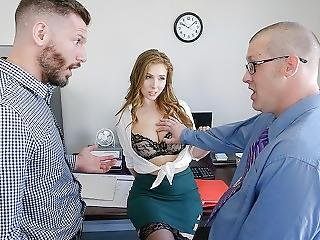 Teamskeet - Lena Paul Fucked In The Office