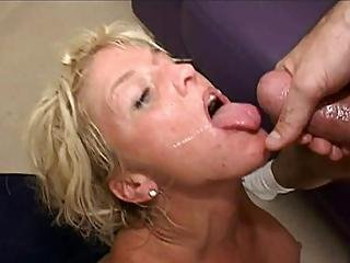 Blonde Bitch Rides On Top Of A Cock