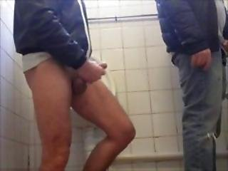 Cock Teased At The Urinals