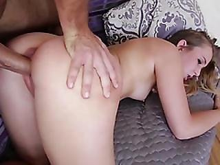 Wildly Horny Blonde Teen Charli Gets Her Pussy A Creamy Filling