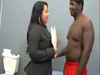 Latina Lawyer Fucks Her Black Man In His Cell