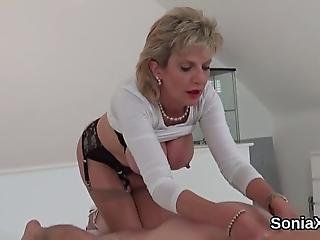 Buxom Bisexual Slutwife Lady Sonia Plays With Her Big Boobs And Finger Fucks Pink Slit In Lingerie