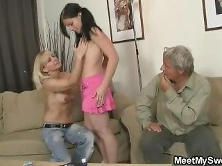Naughty Girl Have Fun With His Olds