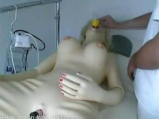 Real Rubber Doll Sick In Doctor