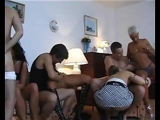 avsugning, cumshot, mogen, orgie, party, sex, små tuttar