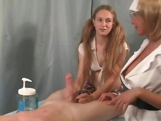 School Nurse Teaches Girl How To Jerk