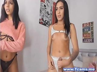 Watch These Triple Hotness With Shemale Babes Jerking Off Their Cock Together They Were Too Good On Seducing Viewers By Their Seductive Dance